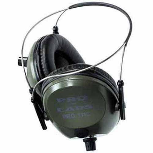 Pro Ears Electronic Hearing Protection Pro Tac Plus Gold, Green Behind the Head