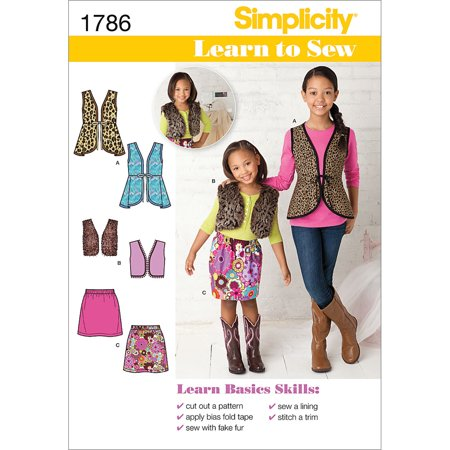Simplicity 1786: Learn to Sew Child's and Girls' Sportswear Sewing Pattern, Size K5 (7-8-10-12-14)