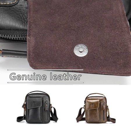 Business Style Cow Leather Men Bag Casual Design Men Messenger Bag Best Gift - image 6 of 8