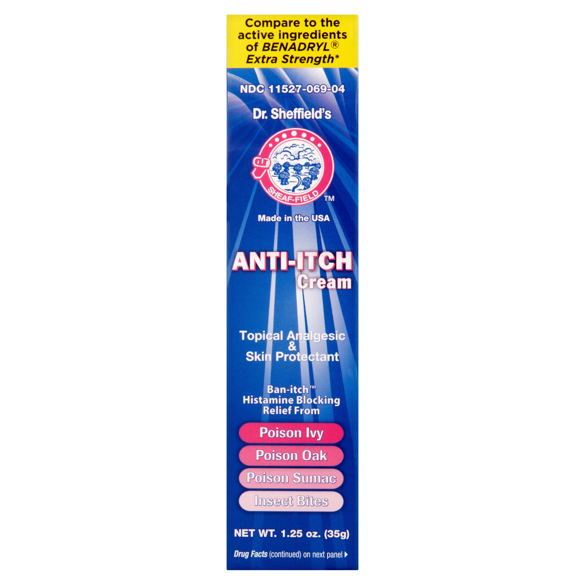 (4 Pack) Dr. Sheffield's Anti-Itch Cream, 1.25 oz
