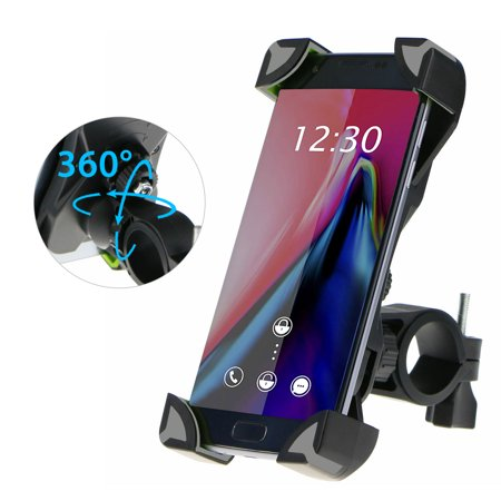 Bike Phone Mount, EEEKit Adjustable Universal Motorcycle Bicycle Handlebar Phone Smartphones PDA GPS Holder Mount for Samsung Galaxy S10E/S10/S9/S9 Plus, iPhone 11/11 Pro XS Max XR X 8 Plus and more