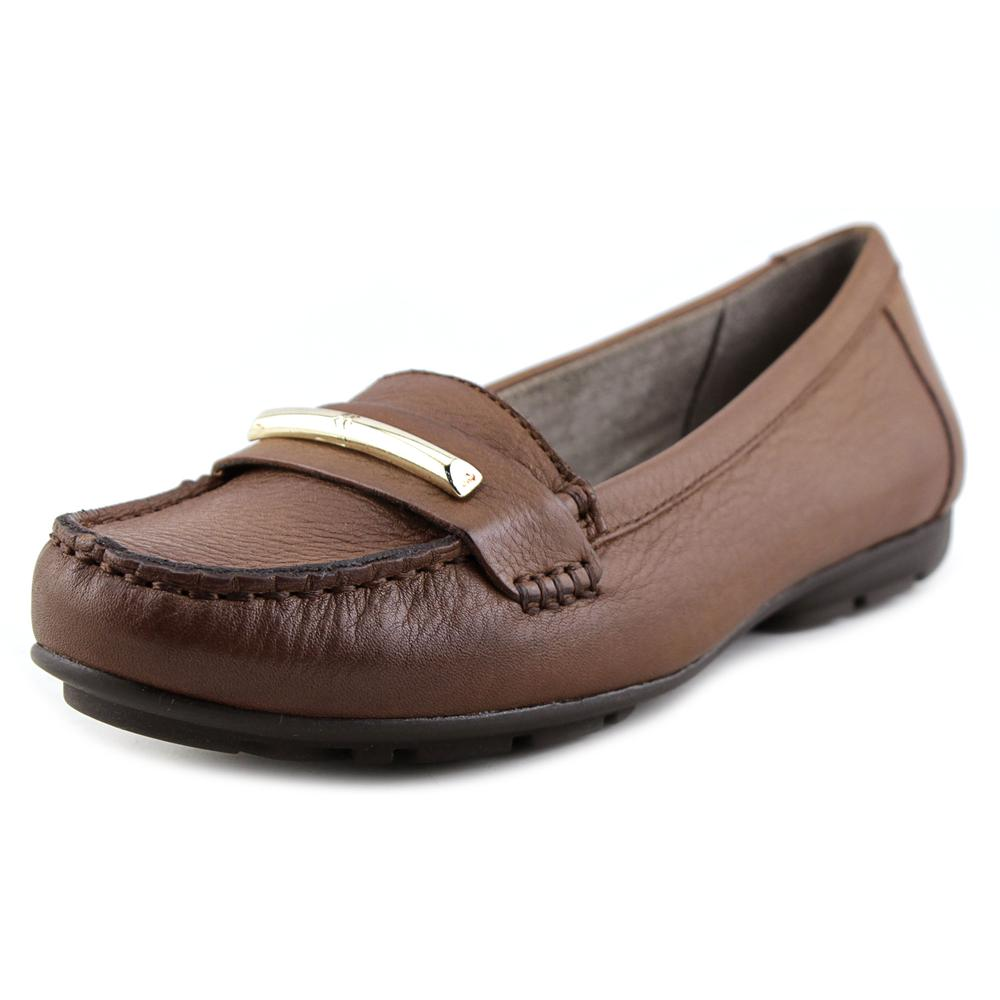 Naturalizer Kamille Round Toe Leather Flats by Naturalizer