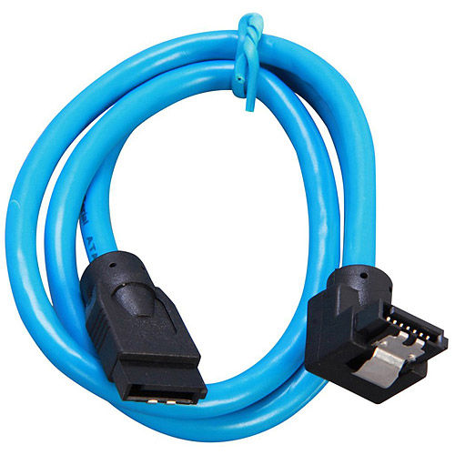 Rosewill 19.7-Inch Serial ATA III Round Cable with Locking Latch Blue (RCA-RU-19-SA3-90-BL)