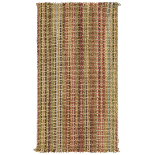 Capel Rugs Nags Head Vertical Stripe Area Rug Madras 2-ft 3-ft