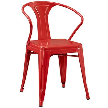 Williston Forge Ashlyn Metal Arm Chair