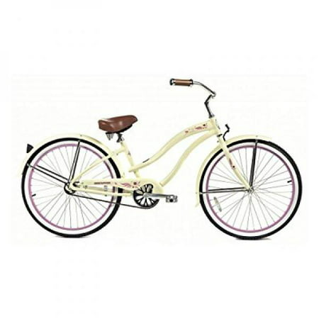 "26"" Micargi Rover LX Women's Beach Cruiser Bike, Vanilla"