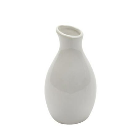 - American Metalcraft - BVJGG4 - White Ceramic Jug Bud Vase