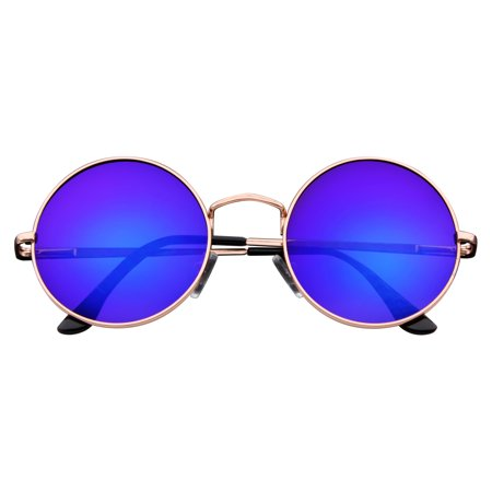 Emblem Eyewear - John Lennon Sunglasses Round Hippie Shades Retro Colored Lenses