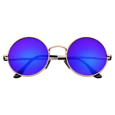 Emblem Eyewear - John Lennon Sunglasses Round Hippie Shades Retro Colored Lenses (Crap Eye Wear)