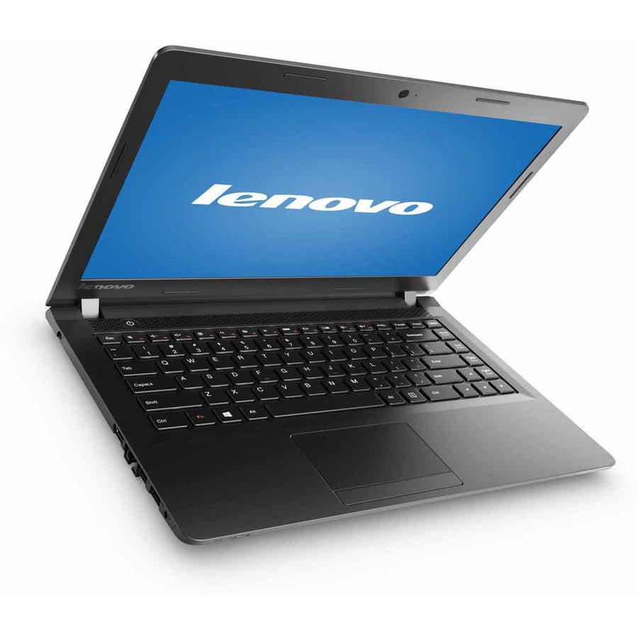 "Lenovo Black 15"" Ideapad 100 Laptop PC with Intel Pentium N3540 Processor, 4GB Memory, 500GB Hard Drive and Windows 10"