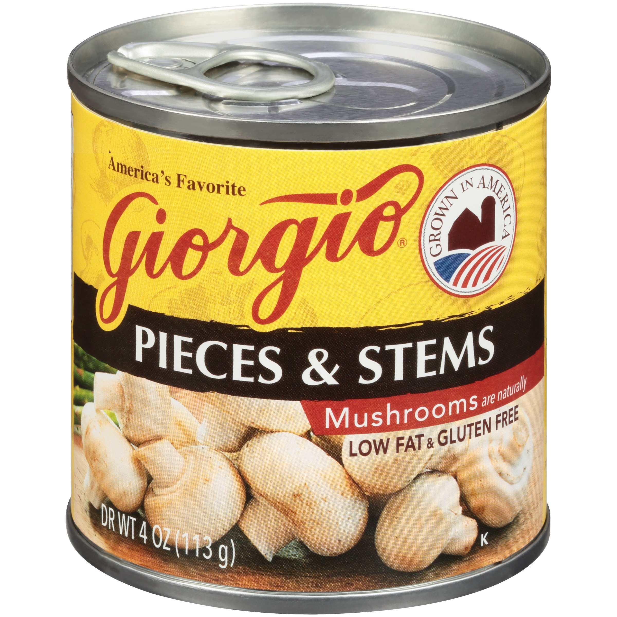 Giorgio Pieces & Stems Mushrooms 4 Oz Can