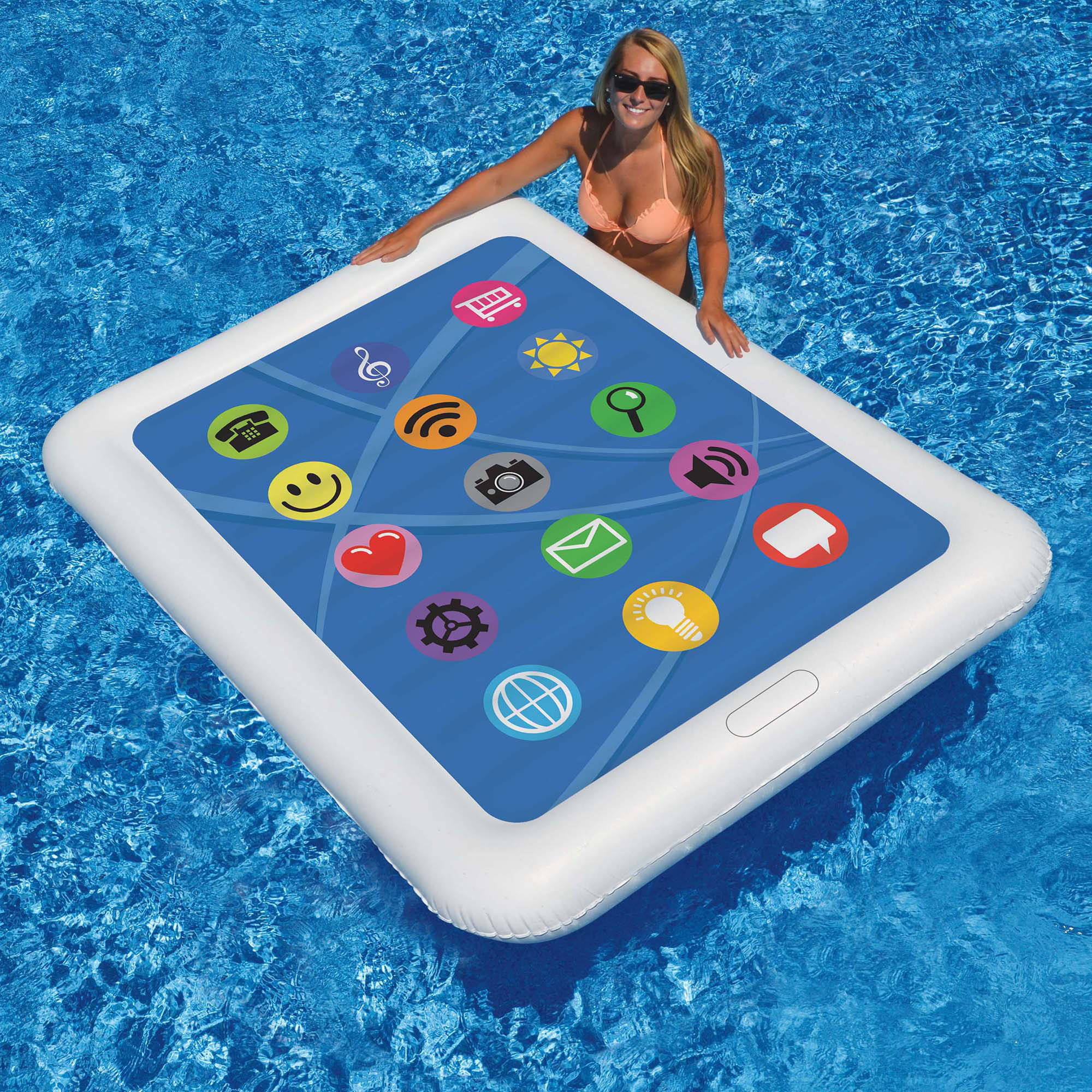 "Smart Tablet Float 67"" x 50"" Floating Pool Mattress"