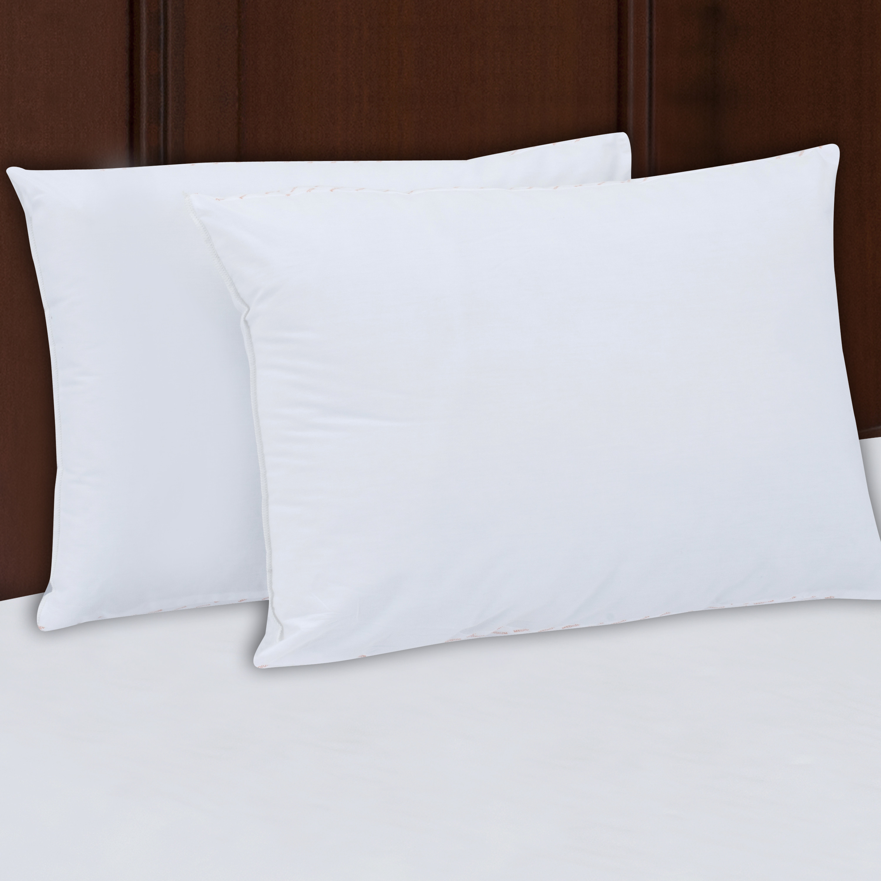 Mainstays 200TC Cotton Medium Support Pillow Set of 2, Multiple Sizes