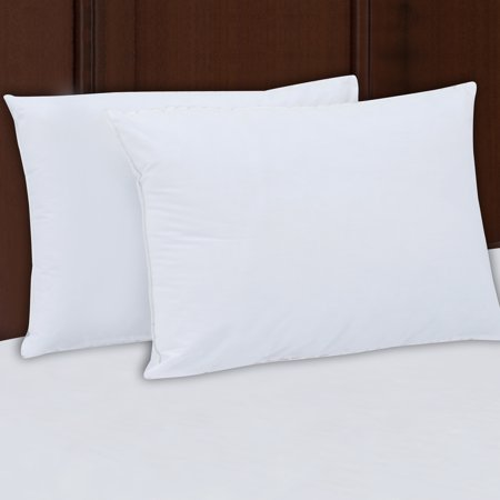 Mainstays 200TC Cotton Medium Support Pillow Set of 2, Multiple (Best Back Support Pillow For Bed)