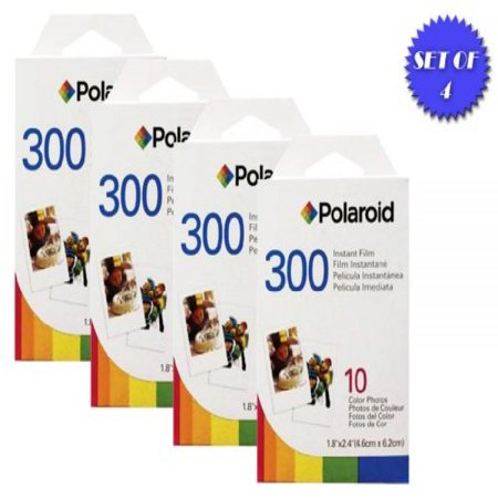 Polaroid Izone Pocket Film (Polaroid PIF-300 Instant Film for 300 Series Cameras (4 Packs, 10 Prints Each))