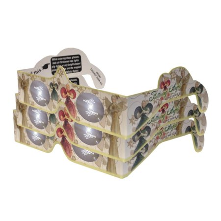 3d Christmas Glasses - Holiday Specs - Transform Christmas Lights Into Magical Messages - Fluttering Angels - 3 Pairs, 3 PAIRS - A SURPRISE FOR THE EYES.., By 3Dstereo Holiday
