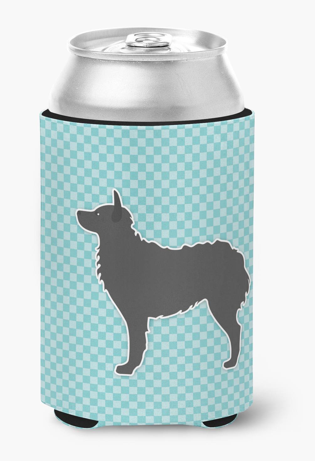 Croatian Sheepdog Checkerboard Blue Can or Bottle Hugger by Caroline's Treasures