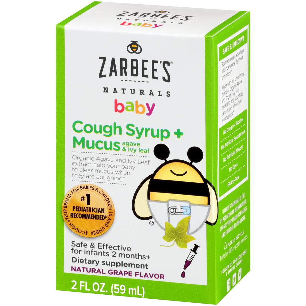 Zarbee S Naturals Baby Cough Syrup Mucus With Agave