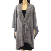 Nordstrom NEW Gray Heather Women's One Size Knit Marled Poncho Sweater $99