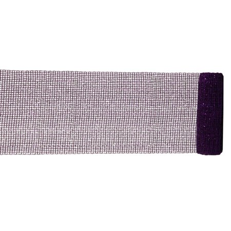 Extra Wide Mesh Purple Sparkle Tinsel Christmas Ribbon 6