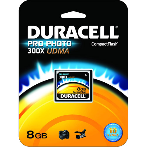 Duracell High Speed 8GB CompactFlash UDMA-300X Card