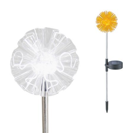 Outdoor Solar Garden Stake Light Solar Powered Color Changing LED Decorative Light Dandelion ()