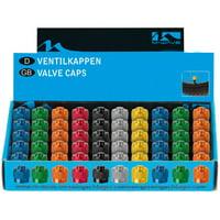 Ventura Valve Cap Set, AV, Assorted Colors, 50 Pieces
