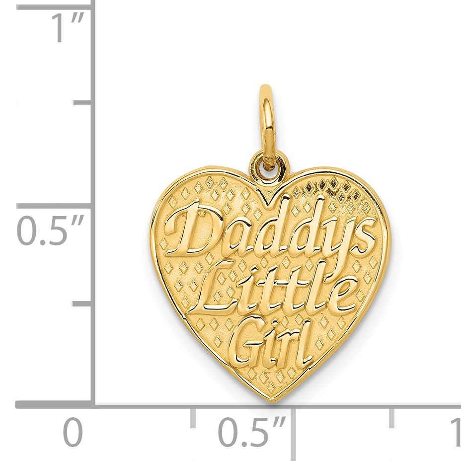 14K Yellow Gold Daddys Little Girl Charm - image 1 of 2