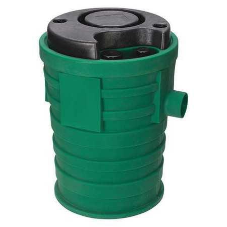 Sewage Basin,4in.x3in,2in Vent,Plastic LITTLE GIANT PPS2V3D