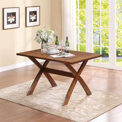 Dorel Living Trestle Dining Table Dark Pine Walmart