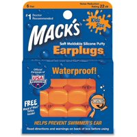 Mack's Kids Size Soft Moldable Silicone Ear Plugs 6 ea (Pack of 3)