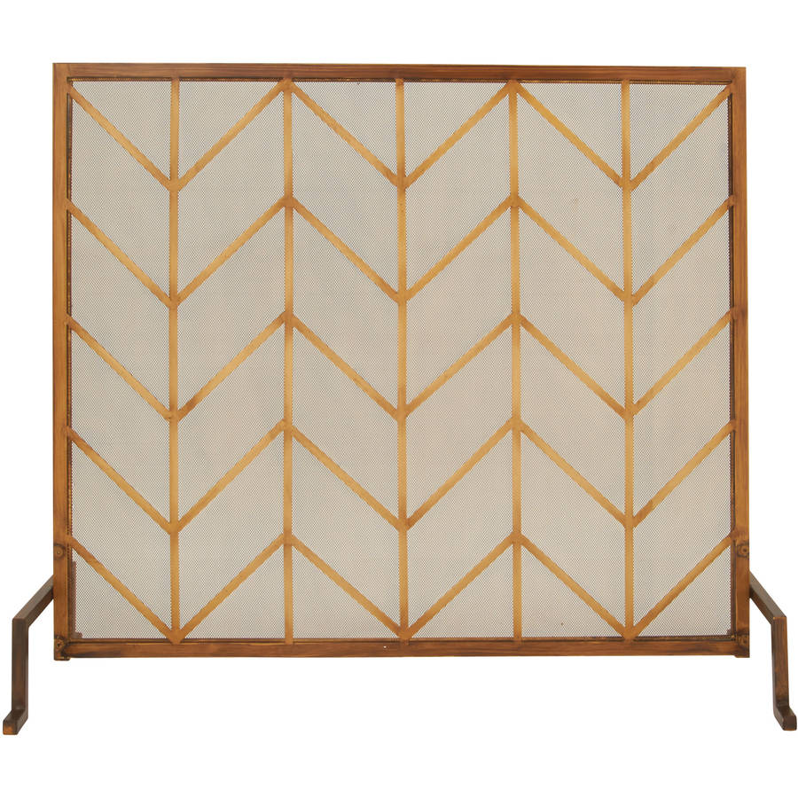 Decmode Metal Fire Screen, Multi Color