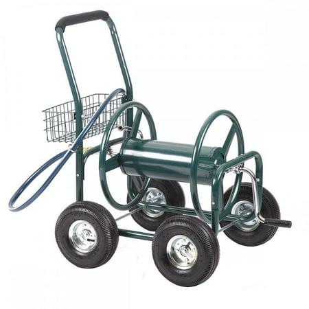 Garden Water Hose Reel Cart Outdoor Heavy Duty Yard Planting W Basket C50