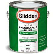Glidden High Endurance Plus Interior Flat Paint, White, 1 Gallon