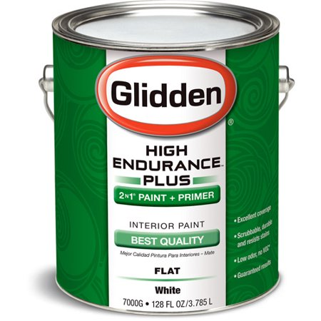 glidden high endurance plus interior flat paint white 1 gallon. Black Bedroom Furniture Sets. Home Design Ideas