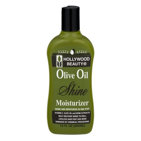 Moisturizing Black Hair - Hollywood Beauty Olive Oil Moist & Shine Moisturizing Hair Lotion, 12 Oz