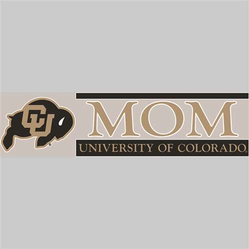 Colorado Buffaloes Die Cut Decal Strip - Mom