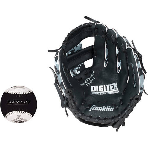 "Franklin Sports 9.5"" RTP Teeball Performance Glove and Ball Combo, Left Handed Thrower by Franklin Sports"