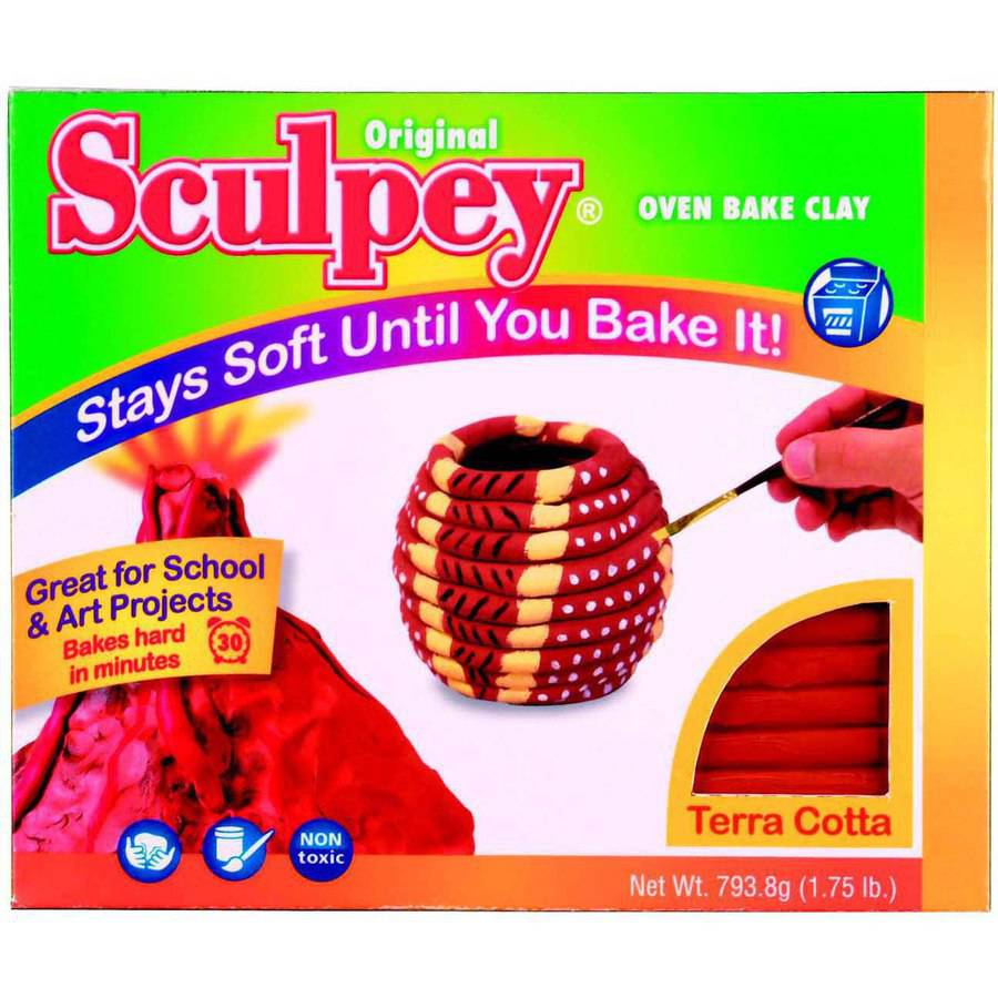 Sculpey Non-Toxic Terra Cotta Oven Bake Clay, Multiple Weights