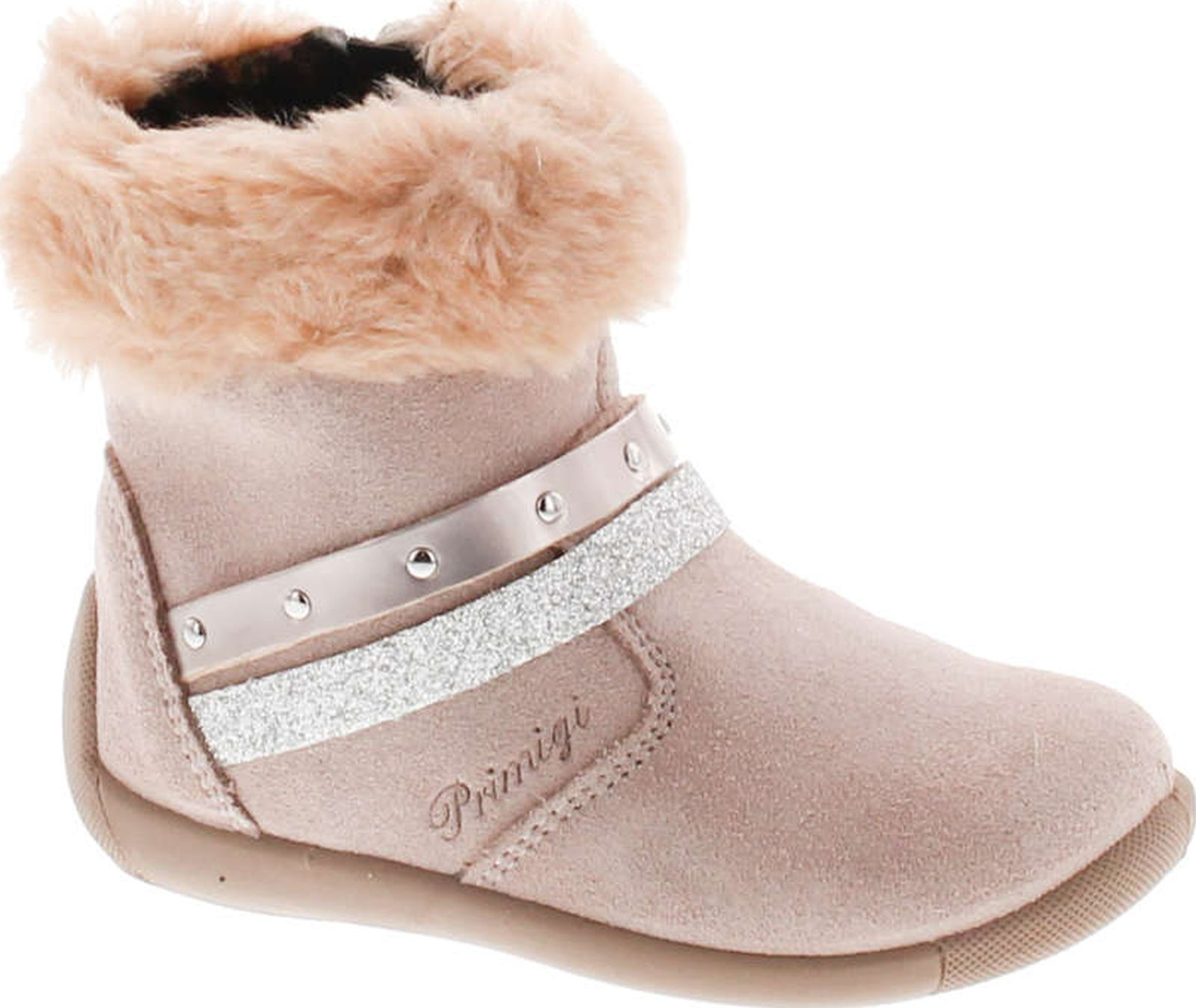 Primigi Girls Designer Fashion Fur Trimmed Booties by Primigi