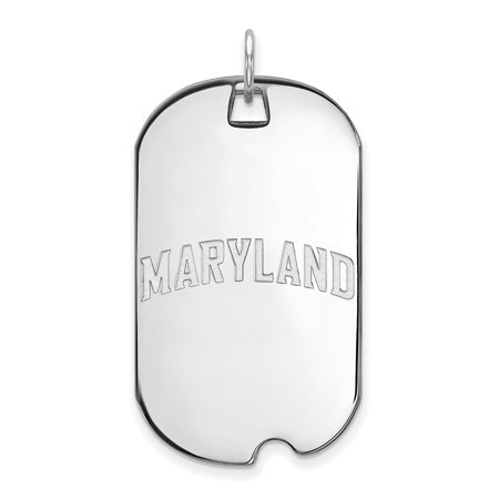 10k White Gold Maryland Large Dog Tag LAL129152 - White Gold Dog Tags