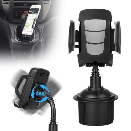 TSV Car Cup Holder Cell Phone Mount, Universal Adjustable Long Arm Gooseneck Cup Holder Cradle Car Mount for iPhone Xs/XR/Xs Max/X/8/7 Plus/Samsung Galaxy S10/S10E/S9/S9/Plus