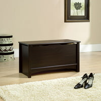 Sauder Shoal Creek Storage Bench, Jamocha Wood Finish