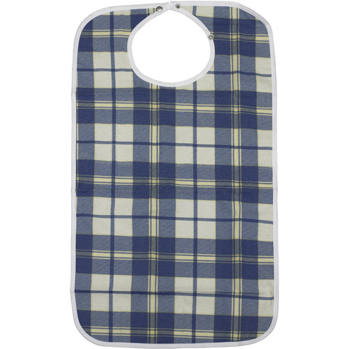 Drive Medical Lifestyle Flannel Bib, Medium