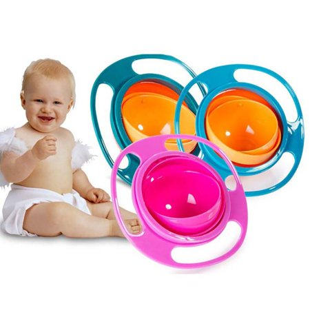 MarinaVida Baby Infant Feeding Bowl Universal 360°Rotate Spill-Proof Bowl Dishes