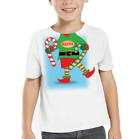 Personalized Kids Elf TShirt Animated 2T-5T