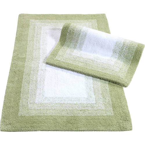 "Whitney Ombre Reversible 2 Piece Bath Rug Set 21"" x 34"" and 17"" x 24"" by Chesapeake Merchandising, Inc"