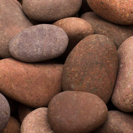 Pink Pebble Glass - Margo Rosa Mexican Beach Pebble 0.4 cu. ft. 1 in. to 3 in. 30 lbs. (32-Pack Pallet)