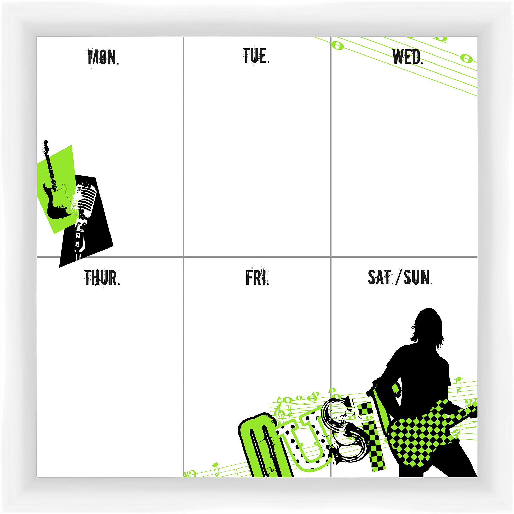 Music Week White Memoboard