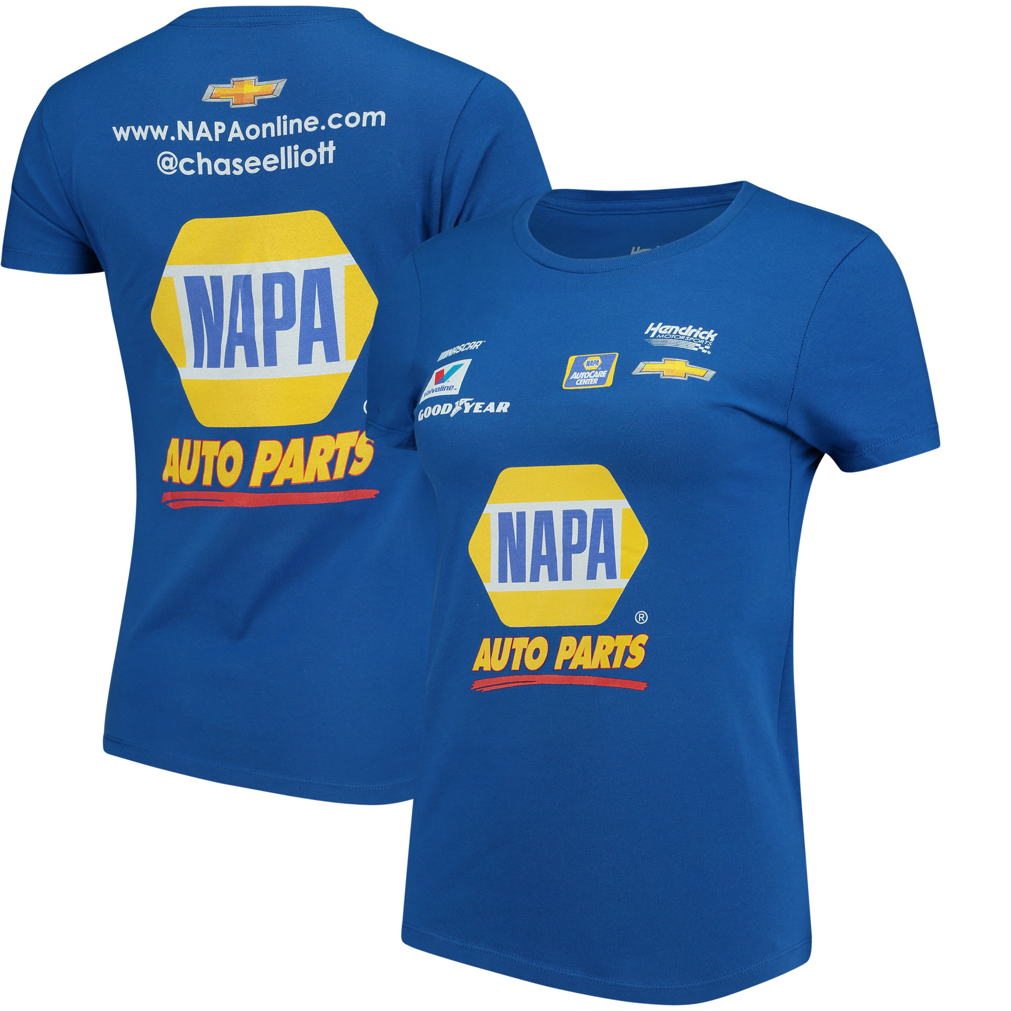 Chase Elliott Hendrick Motorsports Team Collection Women's NAPA Uniform T-Shirt - Royal